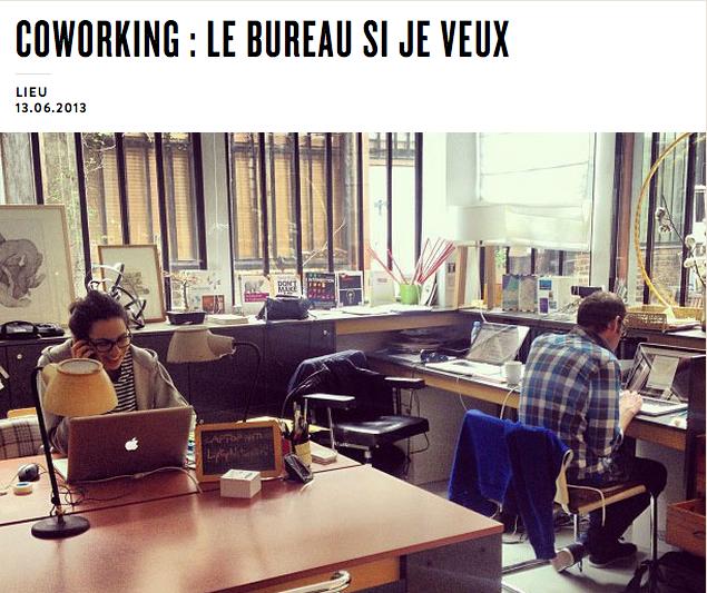 Coworking : Le bureau si je veux