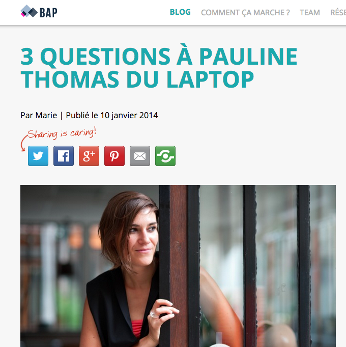3 Questions à Pauline Thomas du Laptop