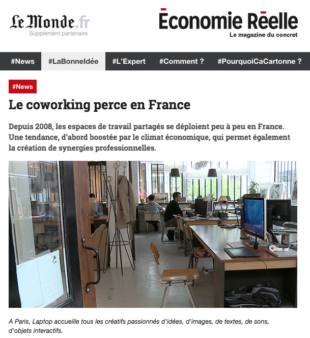 Le coworking perce en France